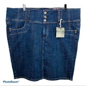 Z. Cavaricci Denim Pencil Skirt Plus Size 22